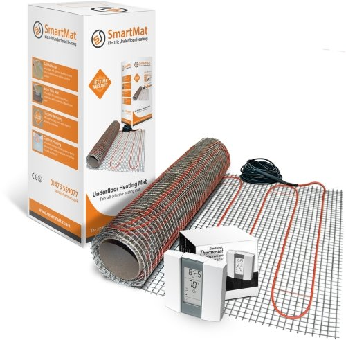 SmartMat 100w/m2 10.0m2 1000w Underfloor Heating Kit + Aube TH232 Thermostat