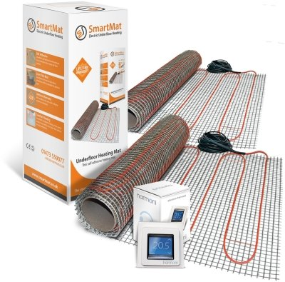 SmartMat 100w/m2 28.0m2 2800w Underfloor Heating Kit + Harmoni 50 Thermostat