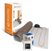 SmartMat 200w/m2 8.0m2 1600w Underfloor Heating Kit + DEVIreg Touch Programmable Thermostat (Pure White)